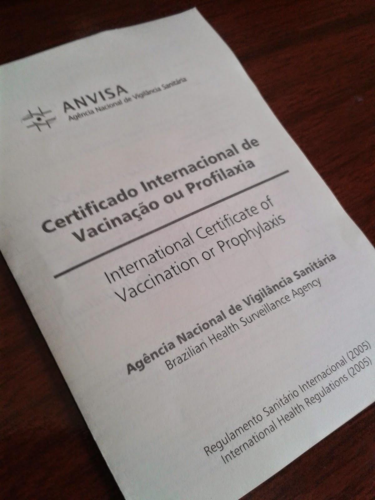 Vacina da Febre Amarela e o Certificado Internacional de Vacinação