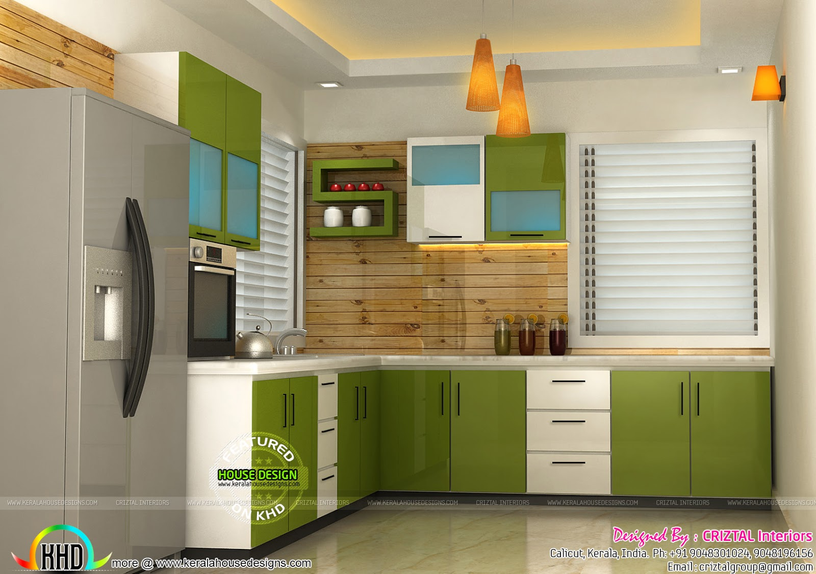 Bedroom And Kitchen Interiors By Criztal Interiors Kerala Home Design And Floor Plans
