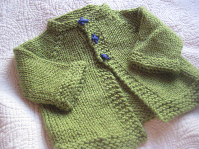 Simple Beginnings: Top down baby cardigan