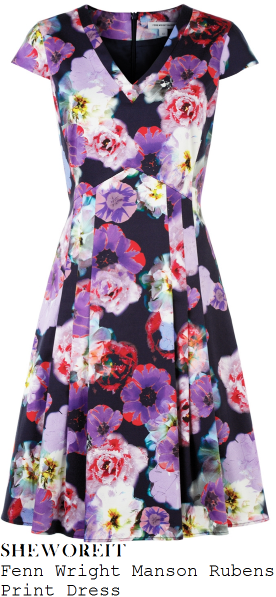 susanna-reid-fenn-wright-manson-rubens-navy-purple-and-multicoloured-blurred-floral-print-pleated-dress