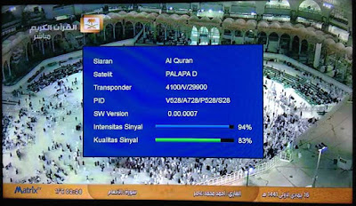 Gambar Chanel Saudi Quran Free Satelit Palapa D