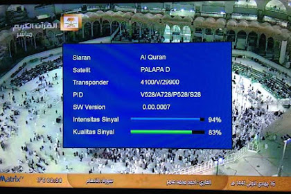 Frekuensi Saudi Quran Saudi Sunnah Free Satelit Palapa D
