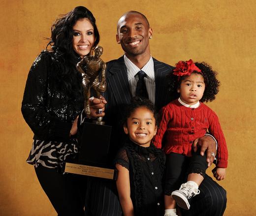 Kobe Bryant With Wife Vanessa Bryant And Kids Sports Stars