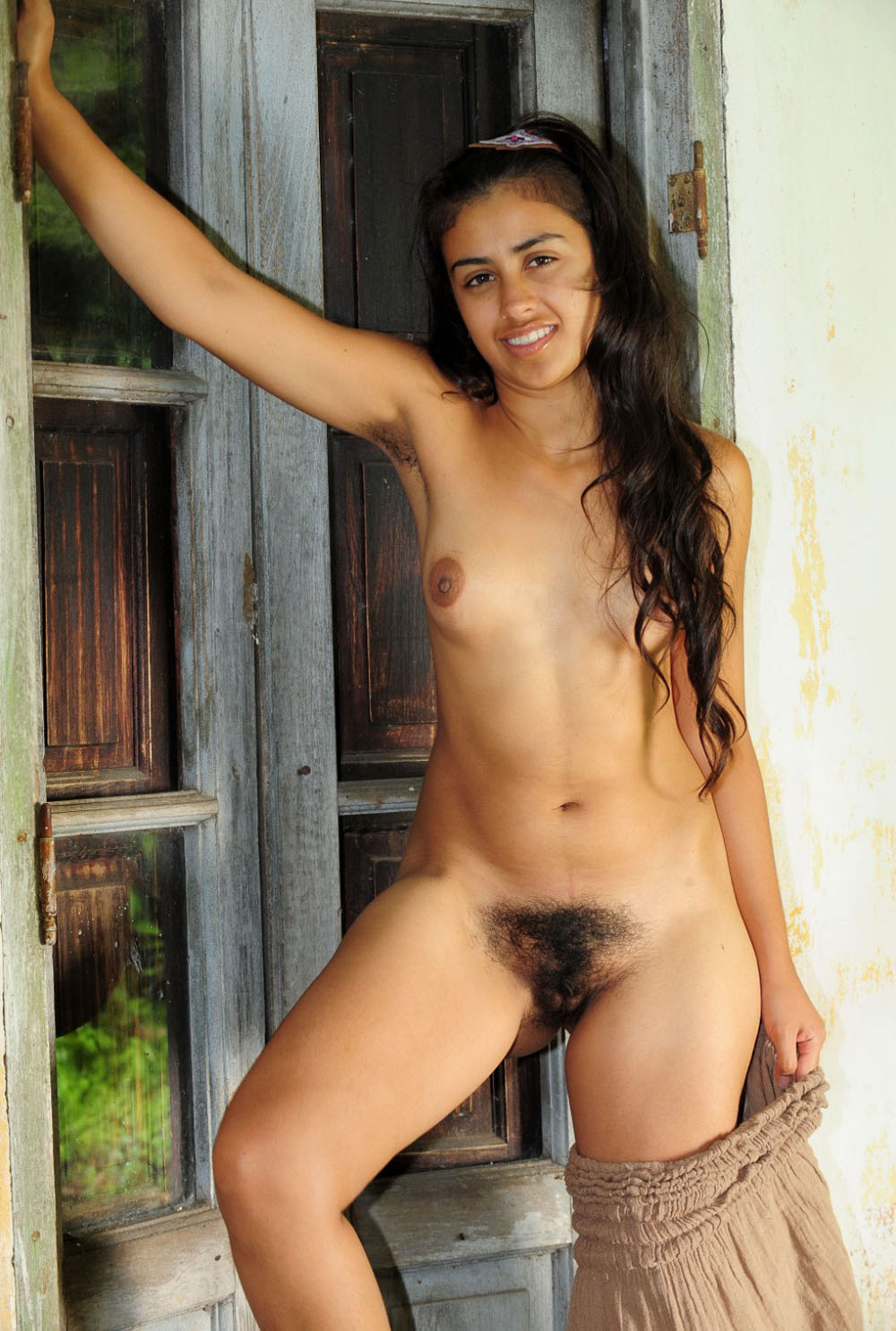 young girl with water hose in pussy