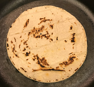 Corn Tortilla in Cast Iron Skillet
