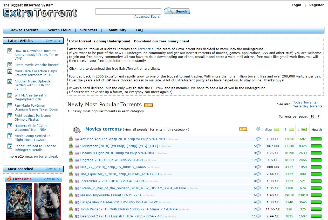 25+ Fast Working Extratorrent Proxy Sites And Unblock Mirror Sites