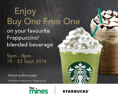 Starbucks The Mines Buy One Free One Frappuccino Promo