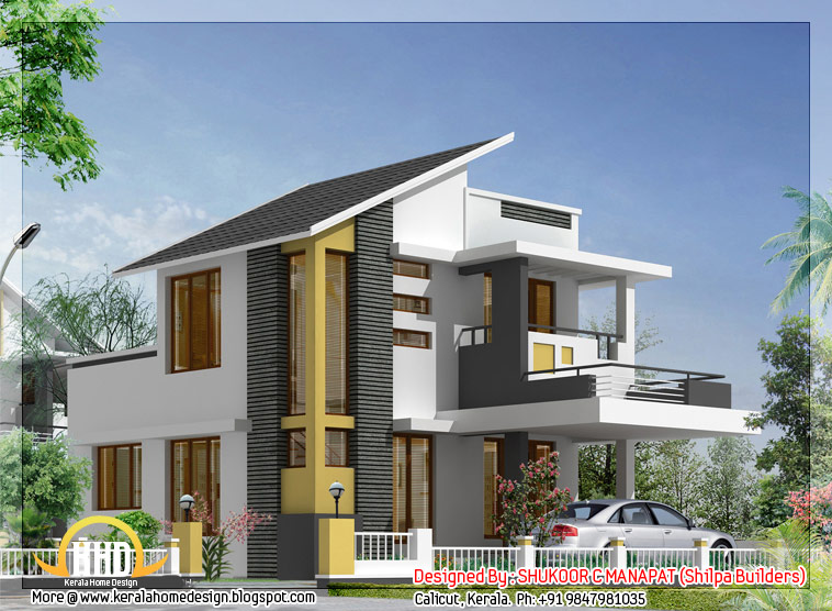 1062 sq ft 3 bedroom low budget house kerala home for Lowest cost per square foot build house