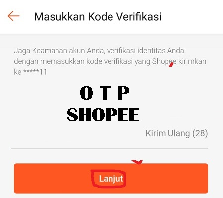 One Time Password (OTP) Shopee