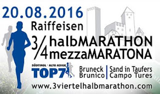 RISULTATI Raiffeisen 3/4 Halbmarathon 2016