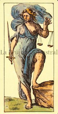 Tarot de Mitelli: La Justicia