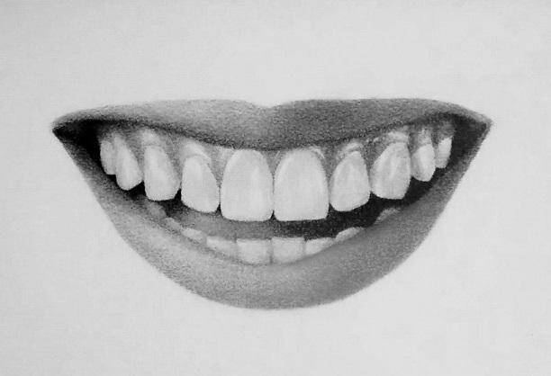 كيف ترسم أسنان بالقلم الرصاص تبدو اكثر واقعية