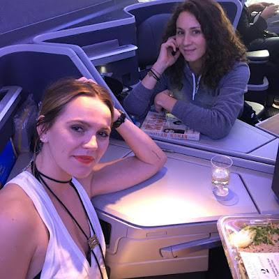 PLL besties Troian Bellisario & Lulu Brud Zsebe on plane to Brazil