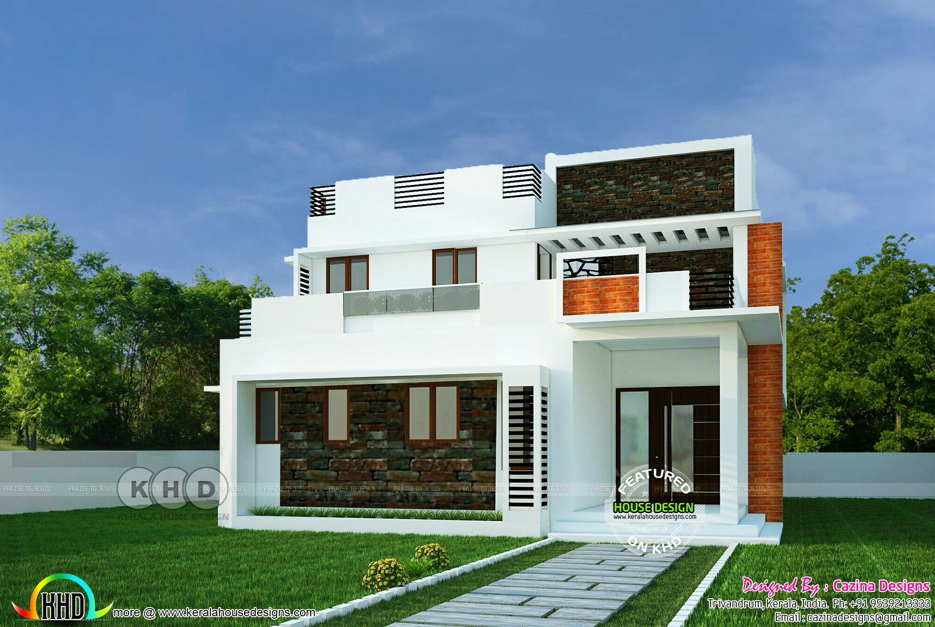 4 bhk contemporary style home 195 square meter kerala for 70 square meter modern house design
