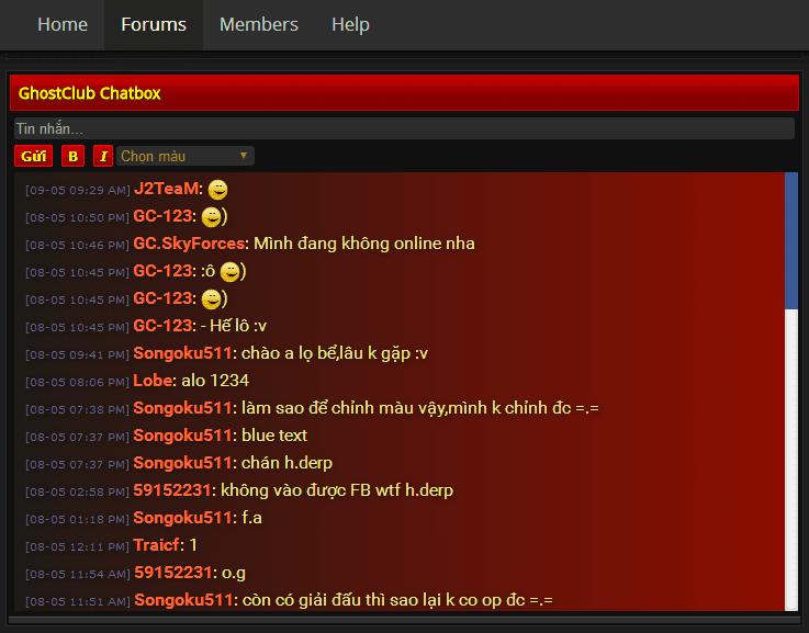 Hướng dẫn cài đặt J2TeaM Chatbox cho XenForo