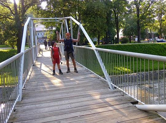 Rymanów Zdrój. Mostek nad rzeką Tabor.