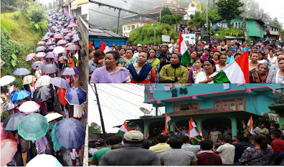 Morcha rally on Gorkhaland in Mungpoo
