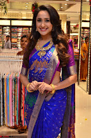 Pragya Jaiswal in colorful Saree looks stunning at inauguration of South India Shopping Mall at Madinaguda ~  Exclusive Celebrities Galleries 012.jpg