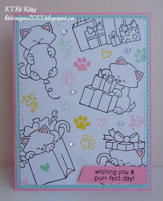 Wishing you a purr-fect day! by KT Fit Kitty featuring Newton's Birthday Bash, Newton's Christmas Cuddles, Newton's Antics, Darling Duos by Newton's Nook Designs, #newtonsnook