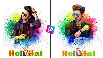 holi photo editing 2020