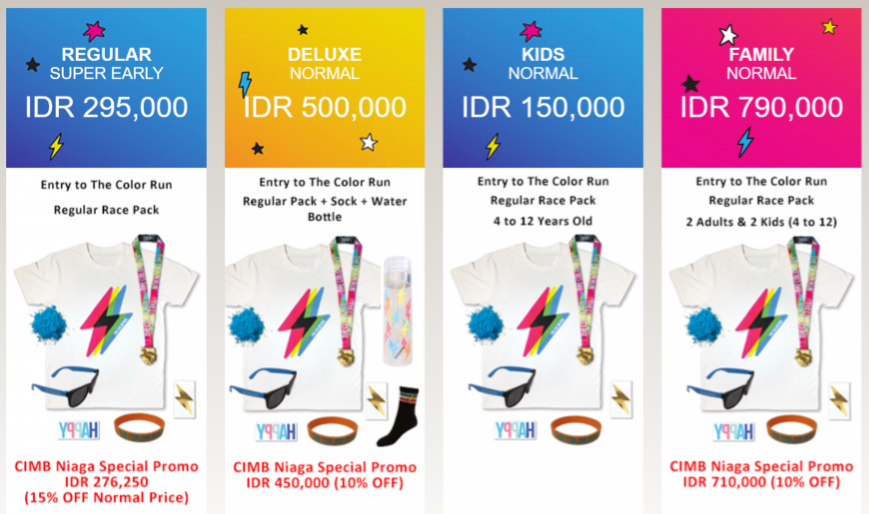 The Color Run Indonesia - Hero Tour Ticket 2018
