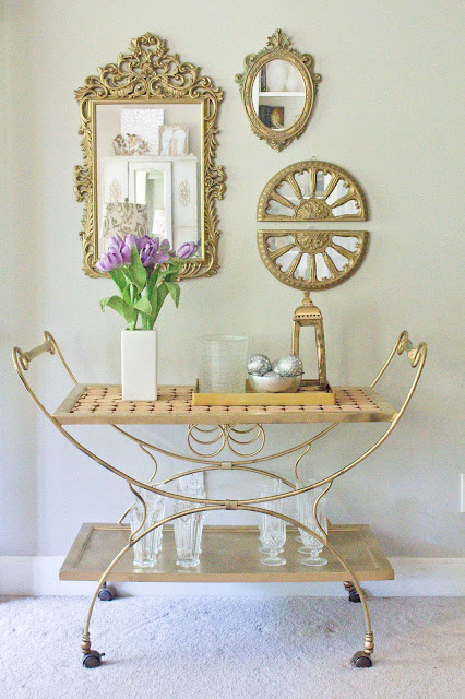 diy multipurpose bar cart makeover