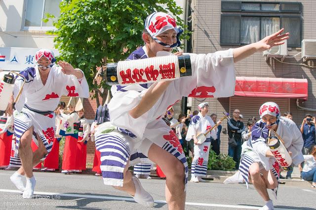 江戸っ子連、男踊り、マロニエ祭り流し踊り中の演舞の写真 その2