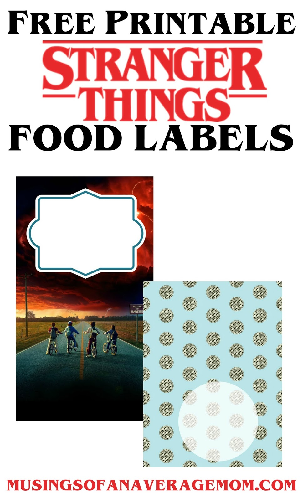 dacc56a6 Free Printable Stranger Things water bottle labels from HaleGrafx