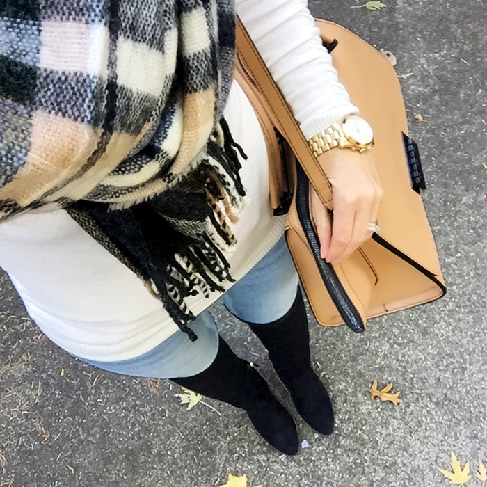 asos plaid scarf