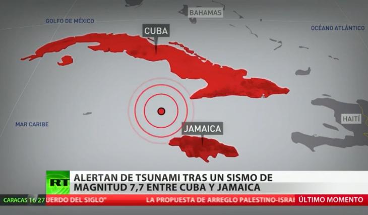 Terremoto de 7,7 sacude el Caribe entre Jamaica y Cuba