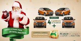 Promoção Shopping União Osasco Natal 2017 Carros Zero Ganhe Panetone