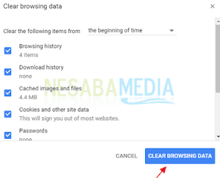 Menghapus Riwayat Pada Browser Google