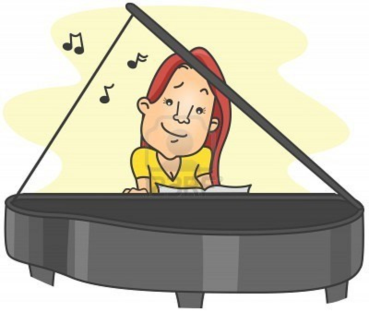 clipart girl playing piano - photo #47
