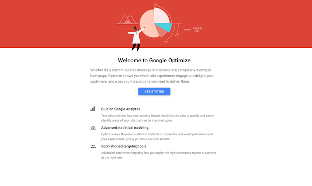 try google optimize now
