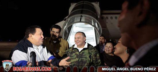 Presidente Chávez llega al país en la madrugada de este viernes | Rosarienses, Villa del Rosario