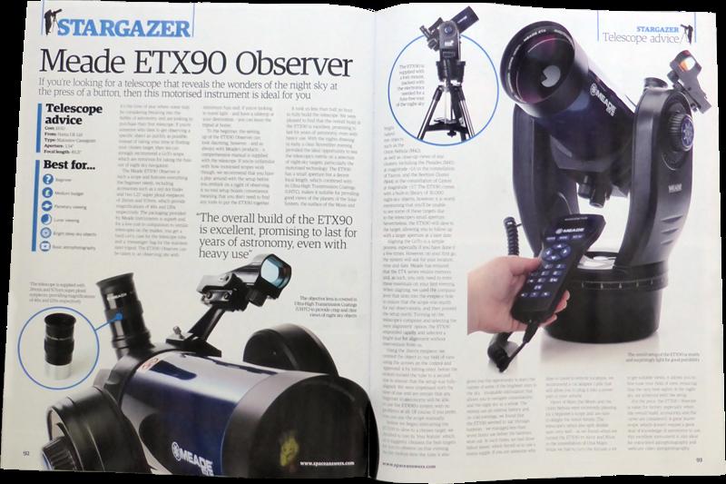 Meade UK Newsroom: Meade ETX90 Observer review in AAS