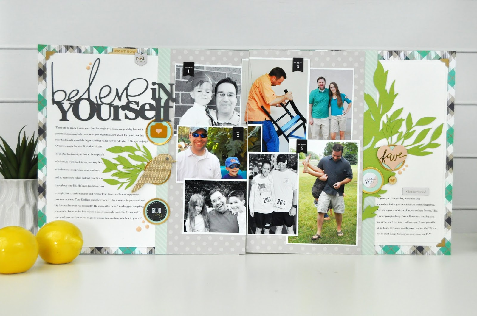 Scrapbook and Cards Today Magazine Fall Layout by Jen Gallacher. Scrapbooking layout.