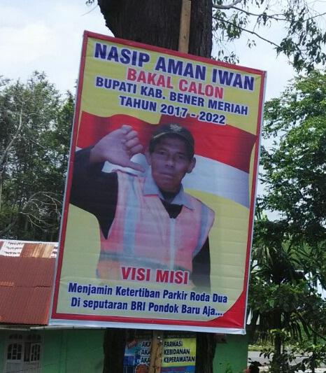 Heboh! Visi dan Misi Nasip Aman Iwan, Seorang Tukang Parkir yang Mencalonkan diri di Pilkada Bener Meriah