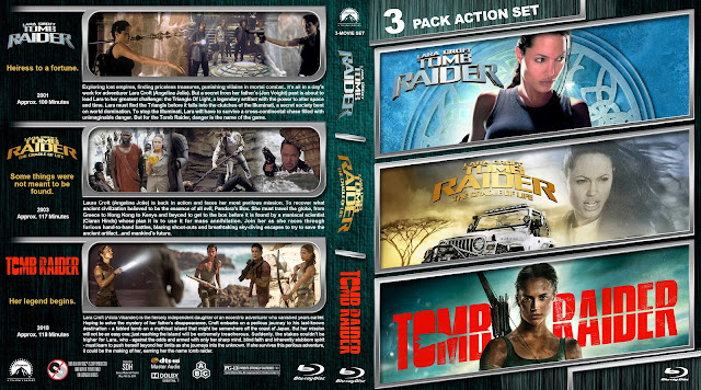 Tomb Raider Triple Feature Bluray Cover