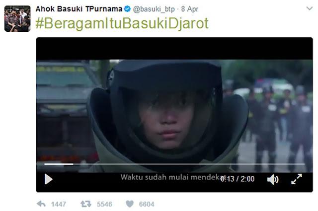 #IklanAhokJahat Trending Topik, Ahok Belum Juga Hapus Video Rasisnya