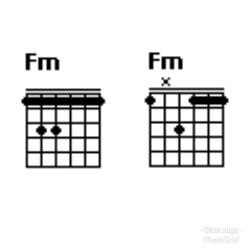 Chor gitar F minor