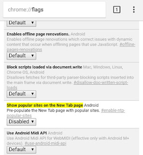 Disable Popular Sites