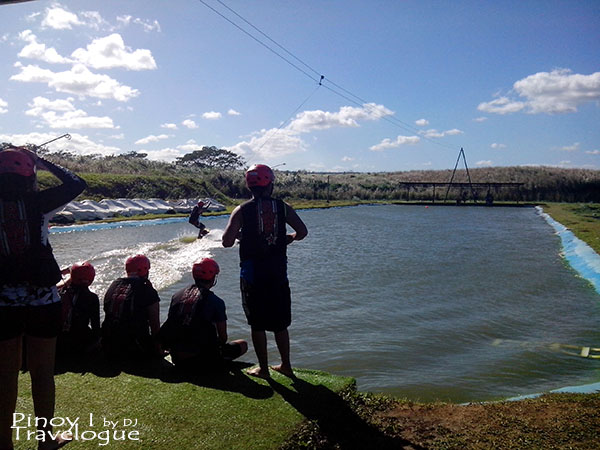 Area for beginners and budding wakeboarders