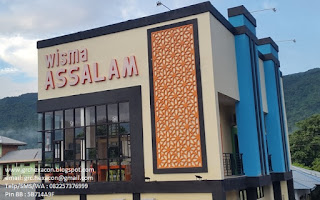 panel GRC krawangan penginapan Wisma Assalam