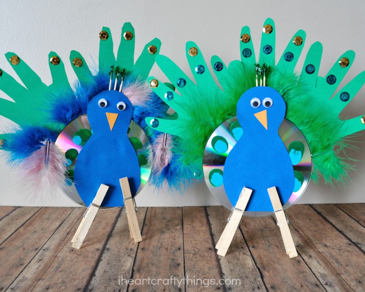 peacock craft ideas for kids recycled cd peacock craft for i crafty things 7033