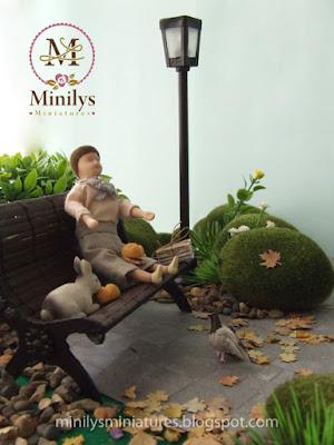 """minilys miniatures"" ""garden"" ""merienda"" 1:12 conejo"