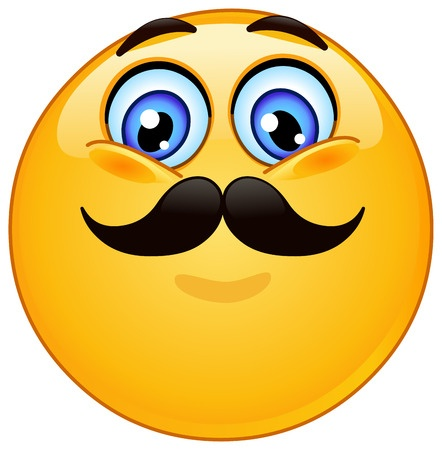 Emoji Smiley Face With Mustache