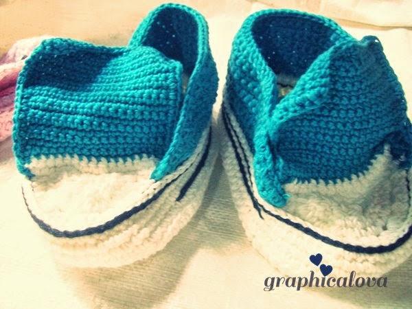 sepatu bayi converse rajut crochet