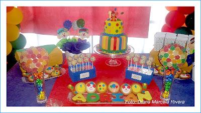 mesa dulce payaso
