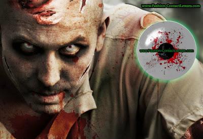 White Zombie Halloween contact lenses